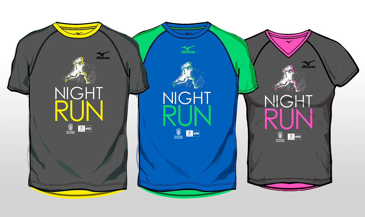 "Post thumbnail of DISEÑO – Camisetas ""HSR NightRun 2016″"