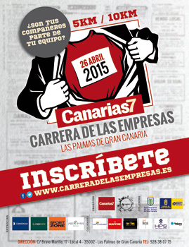 "Post thumbnail of DISEÑO – Cartel ""Canarias7 Carrera De Las Empresas"""