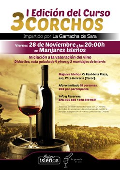 "Post thumbnail of DISEÑO – Cartel ""Curso de cata de vinos"""