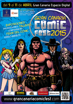 Post thumbnail of DISEÑO – Cartel del Gran Canaria Cómic Fest 2015