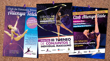 "Post thumbnail of DISEÑO – Carteles ""Club Attenya Telde 2015-16″"