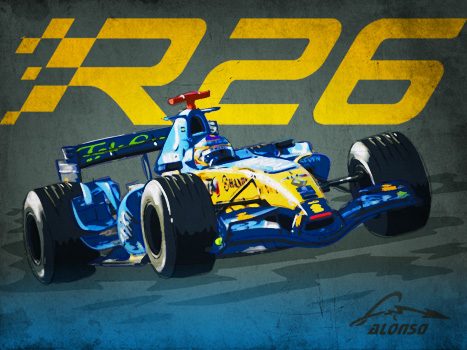 Post thumbnail of ILUSTRACIÓN – Renault F1 R26 / Fernando Alonso