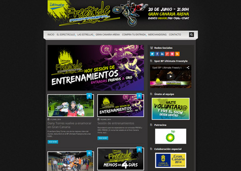 "Post thumbnail of DISEÑO – Web ""BP Ultimate Freestyle 2014″"