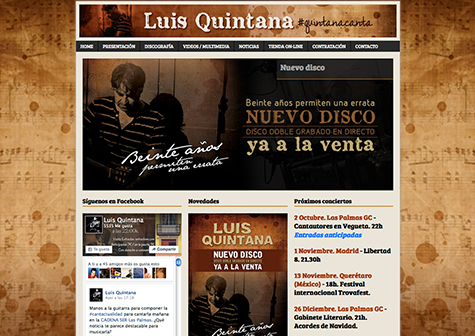 Post thumbnail of DISEÑO – Web de Luis Quintana 2015