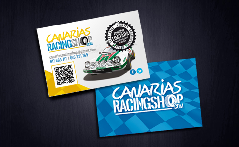 "Post thumbnail of RACINGSHOP – Tarjetas de visita ""Canarias Racingshop"""