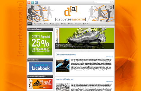"Post thumbnail of DISEÑO – Web ""Deportes Ancalia"""
