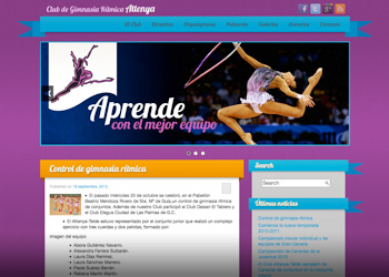 "Post thumbnail of DISEÑO – Web ""Attenya Telde"" (boceto)"