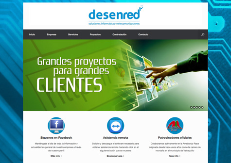 "Post thumbnail of DISEÑO – Web ""Desenred"""