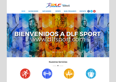 "Post thumbnail of DISEÑO – Web ""DLF Sport"""