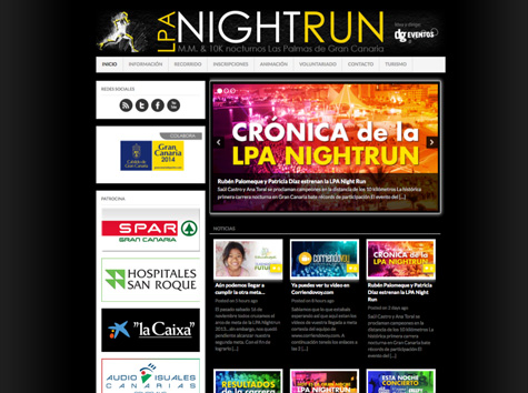 "Post thumbnail of DISEÑO – Web ""LPA Nightrun 2013″"