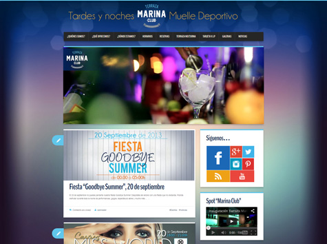 "Post thumbnail of DISEÑO – Web ""Terraza Marina Club"""
