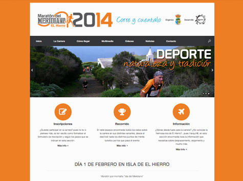 "Post thumbnail of DISEÑO – Web ""Maratón del Meridiano 2014″"
